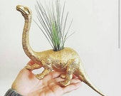 Dinosaur Planter in GOLD // Indoor Planters