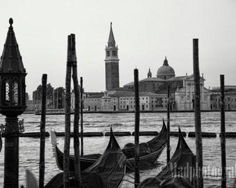 Photograph of The Gondolas of Venice, Italy