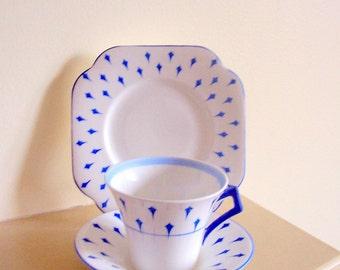 Royal Vale Colclough 1930's Trio - Cup Saucer & Tea Plate