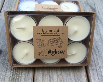 Tea lights || 100% soy wax, unscented