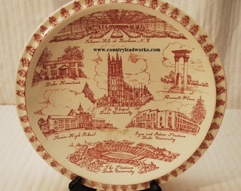 Durham N.C. Collectors Plate - 10 3/8 Inch