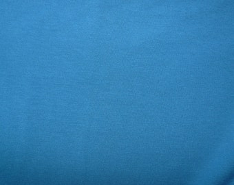 Fabric - cotton sweatshirt jersey fabric - dark petrol blue