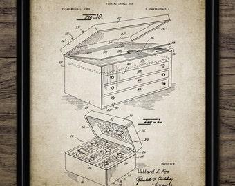 Fishing Tackle Box Patent Print - 1967 Fishing Box Design - Angling Decor - Fishing Gift Idea - Single Print #1933 - INSTANT DOWNLOAD