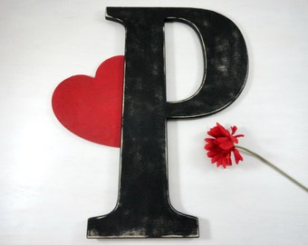 P Guest Book Large Wooden Letters Wedding Photo Prop Home Decor Large Wood Letters Large Wooden Letter Bridal Shower Gifts