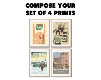4 affiches au choix ! lot poster A3