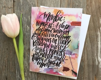 Mombie™ Card, Motheru0027s Day Card, Mombie Definition, Gift For Mom, Funny