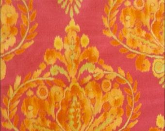 100% Cotton Fat Quarter Freespirit Tangier Crest in Orange and Pink