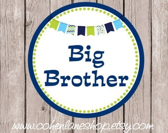 Instant Download Printable Big Brother Tshirt Transfer Design. Big Brother Iron On.  Big Brother Shirt.