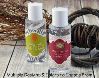 Fall Favors - Rustic Bridal Shower Favors - Hand Sanitizer Favors - Autumn Wedding Favors - Fall Bridal Shower Favors - Set of 10