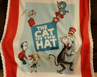 The Cat in the hat Panel Fleece