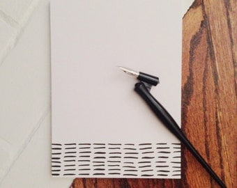 Striped, Hand drawn Simple Notepad, 5 x 7