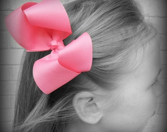 Hot Pink Hair Bow, Pink Boutique Hair Bow, Pink Hairbow, Pink Hair Clip, Boutique Hair Bow, Hairbows, School Hair Bows, Hair Bows for Babies