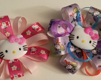 Kitty hair clips- pair of two