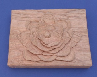 Hand carved water lily