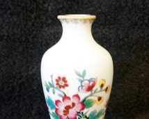 Coalport; Miniature Vase; Ming Rose; Approx. 2 x 4 in. Bone China; Made in England !!!