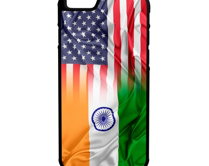 India USA Flag iPhone Galaxy Note LG HTC Hybrid Rubber Protective Case