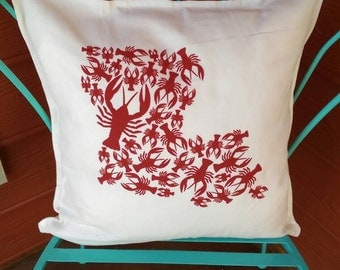 Louisiana Crawfish Pillow (Cover only)