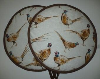 Pair of Wild Pheasant Range Cooker  Hob Lid Covers Hob Top Pads