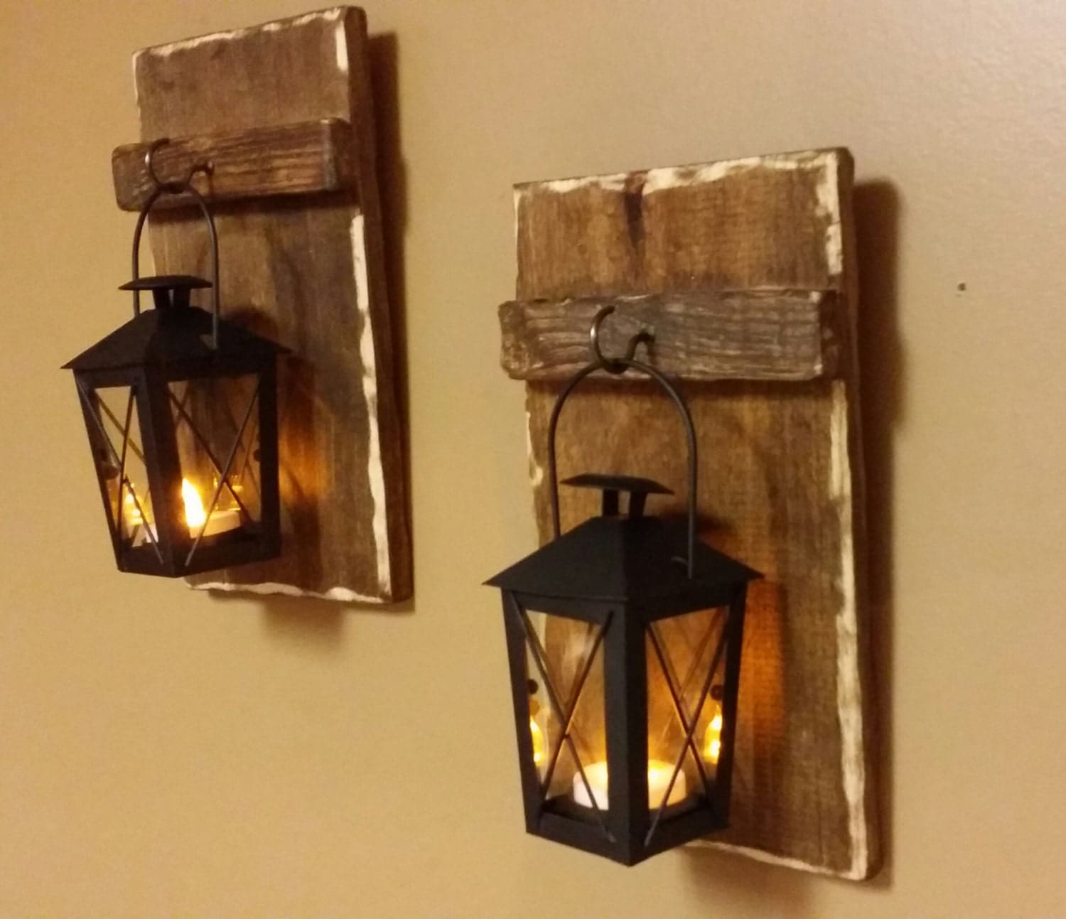 Rustic wood mini candle holders 10 x 5 wood for Rustic house candles