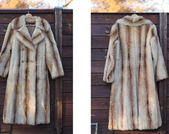 70s winter coat Retro suede coat