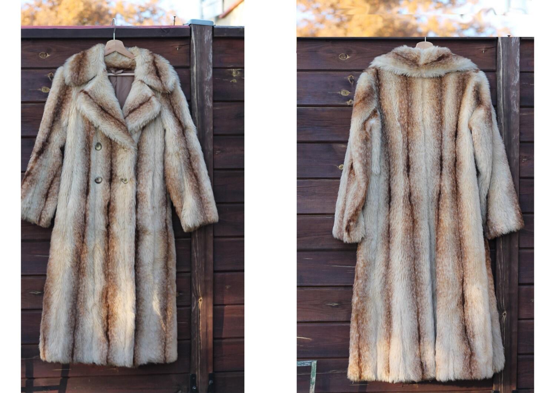 manteau femme vintage fausse fourrure fourrure tigr e. Black Bedroom Furniture Sets. Home Design Ideas