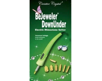 Bejeweler Down Under - Professional Model - Electric Rhinestone Setter - applicator For Use With Swarovski Hotfix Crystals