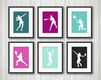 Teen Girl Wall Art tennis girl wall art tennis room decor teen girl wall art