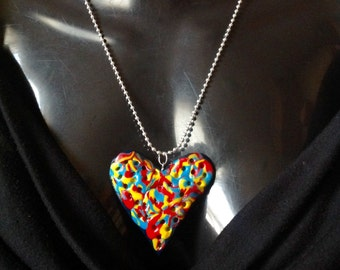 One off Holes In My Heart -Pendent Necklace