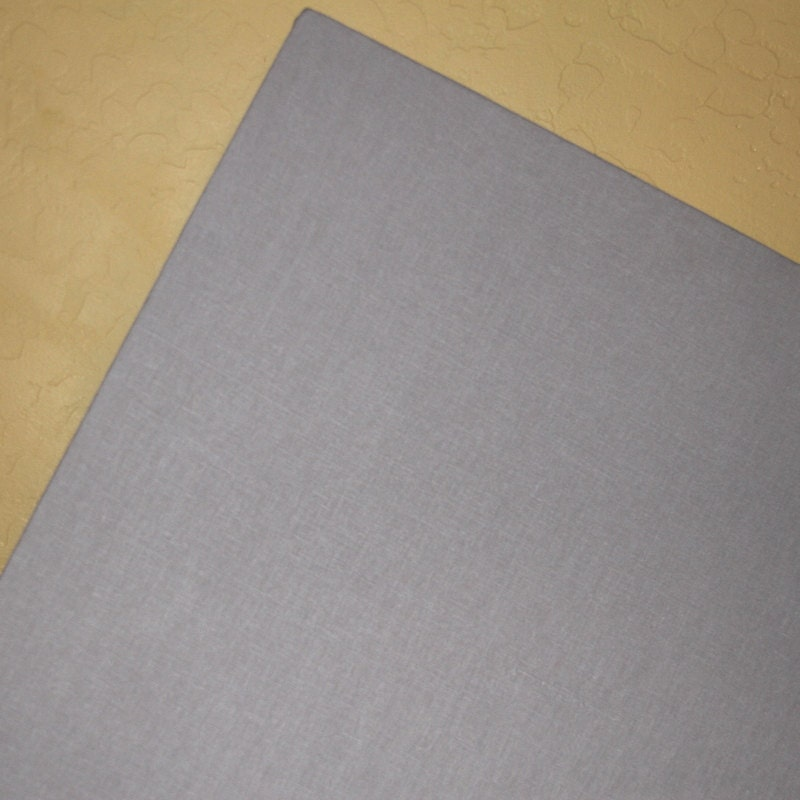 Fabric bulletin board 22 x 28 gray linen covered for Linen cork board