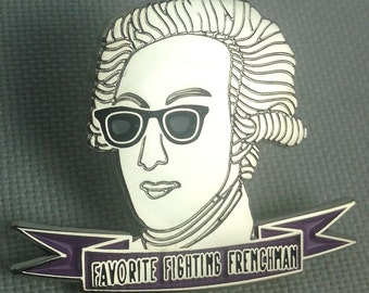 Hipster Marquis de Lafayette Pin