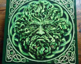 Green Man Wooden Cigar Box