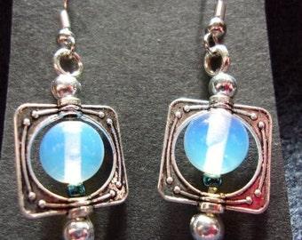 Moonstone in Silver Earrings