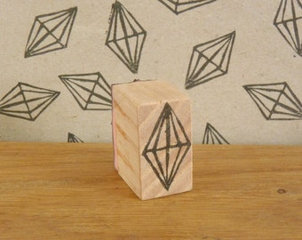 diamond stamp, crystal, Himmeli, hand carved, wood, recycled, scrapbooking, customization, makeover