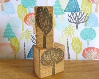 "collection de tampons ""Arbres"", arbre, chêne, sapin, buis, palmier, cocotier, tampon, scarpbooking"