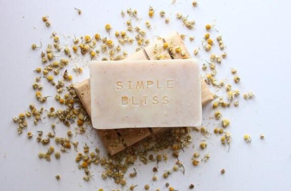 SIMPLE BLISS // Handmade // All Natural // Vegan // Chamomile // Baby Soap