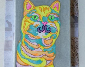 Rainbow Kitty Painting