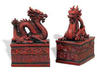 Dragon bookends etsy - Dragon bookend ...