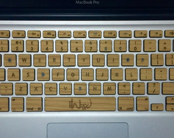 Real OAK Wood MacBook Keyboard Skin, free shipping worldwide