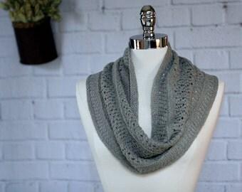 Warm Grey Linen/Pima Cotton Cowl