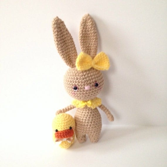Amigurumi Bunny Ears : Amigurumi Bunny Toy Amigurumi Ducky Duck Crochet by ...