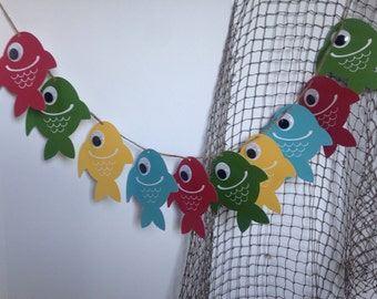 Gone Fishin' Banner, birthday party banner, fishing party