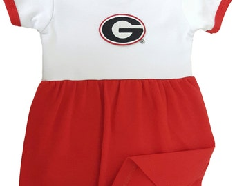 Georgia Bulldogs Baby Bodysuit Dress
