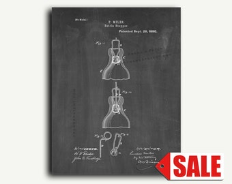 Patent Art - Bottle Stopper Patent Wall Art Print