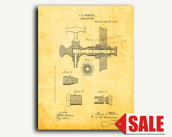 Patent Print - Beer Faucets Patent Wall Art Poster