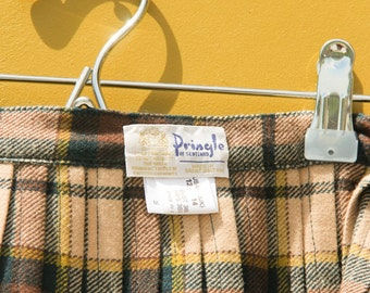 DEADSTOCK Pringle 50's Plaid Skirt with Side Buckles
