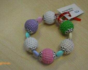 Kawaii Pastel Crochet Beaded Bracelet