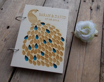 "Wedding guestbook ""Peacock"""