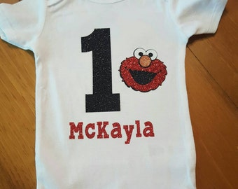 Elmo 1st birthday shirt
