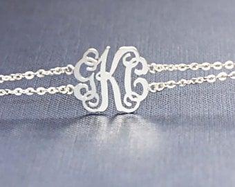 Initial Name Bracelet - Monogram Bracelet - Personalized Gift - Personal Presents - Fine Jewelry