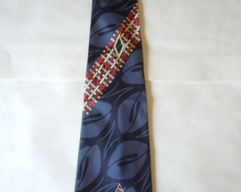 Nice atin Rayon 1940s Geometric Swing Tie